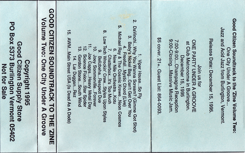 Good Citizen - Soundtrack to the 'Zine Volume Two - One City Under A Groove Pre-Rotated - 2000.jpg